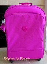 NWT Kipling Yubin Spin 81 4 Wheeled Luggage with Lock Pink Orchard  Monkey ELOI