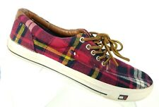 Tommy Hilfiger Womens 7.5 Casual Plaid Lace Up Summer Shoes Sneakers