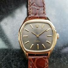 ROLEX Ladies 18k Solid Gold Cellini Manual-Wind Dress Watch, c.1970s Swiss LV974