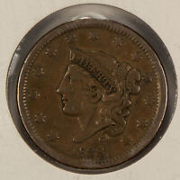 1838 1c Coronet Head Large Cent SKU-Y2607