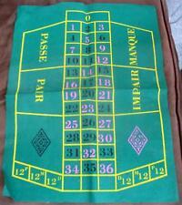 Craps Dice Gaming Green Felt Table Mat Game Board Las Vegas Vintage Gambling
