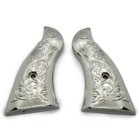 LUXURY Smith & Wesson Scroll Metal Grips - K-Frame Square Butt Nickel