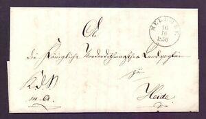 Vorphilabrief Altbrief 1856 Schleswig-Holstein aus Meldorf nach Heide (591)