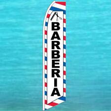 Barberia Barber Flutter Flag Tall Advertising Sign Feather Swooper Banner