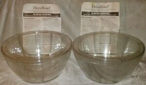 A Pair of Party DecoBowls-1 NEW, 1 Used-10 Hollow Sections/Bowl to be Filled ?.