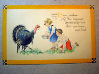 Postcard Thanksgiving Best Wishes Happiest That You Have Ever Had Gibson 1368