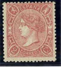 Sellos de España 1865 Isabel II nº 74 nuevo señal fijasellos Certificado AEF
