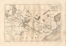Winnipeg, Lake Superior, Minnesota / Canada, Vintage 1878 French Antique Map