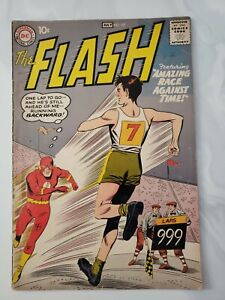 The Flash #107 Comic Book 1959 107 DC Silver Age VG 4.0 Amazing Race 🔥🔥