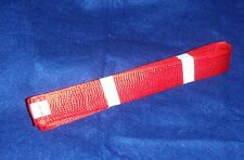 Hanshi Belt - Red Satin - 5cm/2inches - 8th Dan to 10th Dan