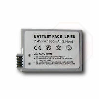 LP-E8 LPE8 1200mAh Battery for Canon Camera EOS 550D 600D Rebel T3i T2i