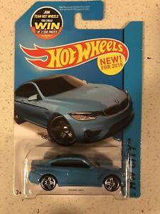 Hot Wheels 2015 HW City BMW M4 Light Blue Color #24/250