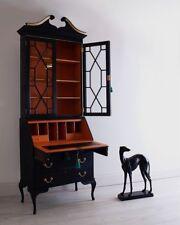 Hand Painted Antique Secretaire / Writing Bureau / Writing Desk / Bookcase