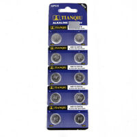 10PCS AG13 LR44 SR44 L1154 357 A76 Button Coin Cell Pack Alkaline Batteries
