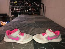 Nike Revolution 3 Girls Youth Athletic Shoes Size 1.5Y Gray Pink
