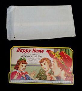 NEW Happy Home, Vintage Needle Book Advertising, Staub Sales Winona Lake - Japan