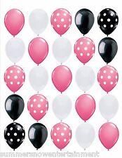 Polka Dot Princess: Pink, Black, White, Polka Dot Latex 25pc Balloon Set
