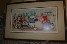 """Framed 20 x 30 Lithograph Signed, Numbered by Olona Steelhammer Titled """"Chores�"""