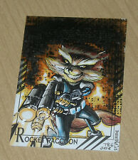 2015 Marvel Fleer Retro base character sketch Joe St Pierre #43 ROCKET RACCOON