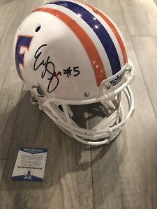 EMORY JONES Signed Autograph Florida Gators Replica FS Helmet Beckett BAS Coa