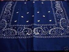 NEW ROYAL  BLUE PAISLEY BANDANA BANDANNA headwear