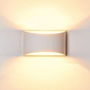 Plaster Wall Light Up/Down Light White Paintable Gypsum Ceramic Style G9 socket