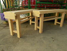 Pair of Stools Wood Solid Tableados. Long 90 CMS