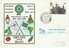 19 APRIL 1978 ENGLAND v BRAZIL INTERNATIONAL DAWN FOOTBALL COVER