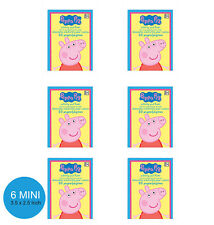 Peppa Pig Party Supplies Favours 6 MINI COLOURING BOOKS Activity Pads