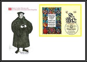 FDC Großbrief - Martin Luther Ehrung der DDR - Block 73 / ESST vom 18.10.1983