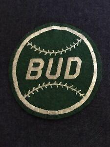 "Vintage 1950's Baseball Felt Patch - ""Bud"""