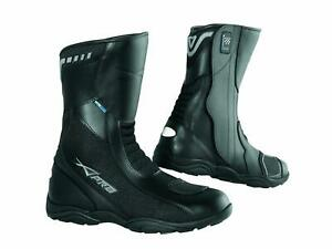 Waterproof Breathable Boots Touring Sports Motorcycle Motorbike Leather Black 41