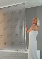 ECO-DuR Kassetten Duschrollo Seitenzug 80 cm weiß, Bullauge grau