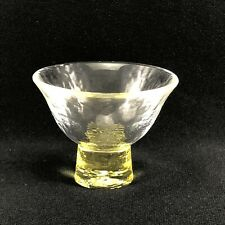 SC114  Japanese Yellow Sake Glass Cup Signed