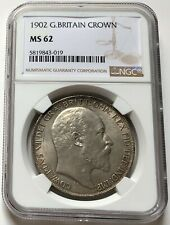 NGC-MS62 Great Britain 1902 Edward VII Crown Silver Coin