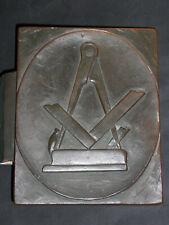Kurioser alter Bronze Eingangstüre-Griff eines Tischlers mit Zirkel,Hobel,Lineal