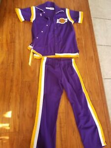 Vintage Authentic Sand-Knit Macgregor NBA Los Angeles Lakers Warm up 80s RARE