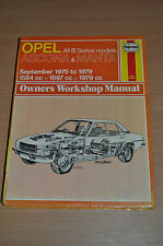 Haynes Reparaturanleitung H316 OPEL Ascona Manta 1975- 1979, Workshop Manual