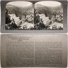 Keystone Stereoview Lynmouth, Devon Valley, England From Rare 1200 Card Set #210