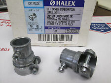 """Halex 1/2-1/2"""" EMT-FLEX Combo Coupling 25PCS PER BOX NIB FREE SHIPPING"""