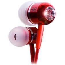 BassBuds BBCC-RED Classic Red Crystaltronics In-Ear Headphones