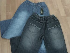 """GENEROUS FIT BOYS JEANS - FROM AGE 9 UPTO 42"""" WAIST - NORMAL OR BLACK DENIM"""