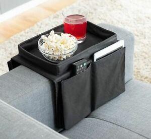 Sofa Ablage Organizer Couch Sofatablett für Snack mit Fernbedienungshalter