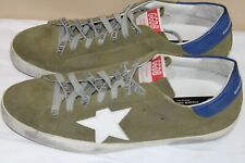 Golden Goose Deluxe Brand GGDB Green Suede V-Star Sneakers 43 Euro USA SIZE 10