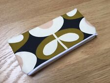 HANDMADE PENCIL MAKE UP GLASSES CASE - ORLA KIELY SEAGRASS OVAL FLOWER FABRIC