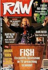 Fish on RAW Cover 1990   Faster Pussycat   Faith No More  Dan Reed  Jon Bon Jovi