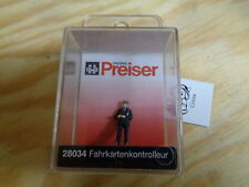 H0 Preiser 28034 fahrkartenkontrolleur. figure. emballage d'origine