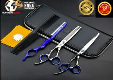 Left Handed Japanese Hairdressing Scissors Thinning Shears & Razor Set 6 Inch