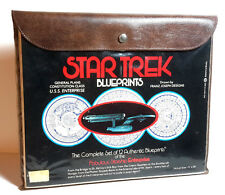 "1974 Star Trek USS Enterprise Blueprint Set- 12 Sheets- 9""x30"" in Pouch (E1115)"