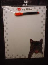 Akita Magnet Wipe Off Note List Eraseable Message Memo Dry Erase Board dog Usa